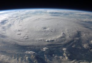 A hurricane seen out of space