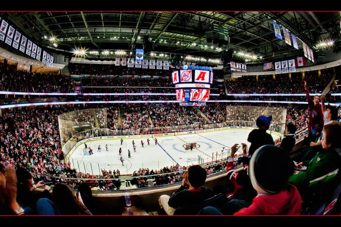 The Prudential Center in Newark, home of the NHL's New Jersey Devils.