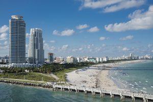 Iconic buildings in Miami.