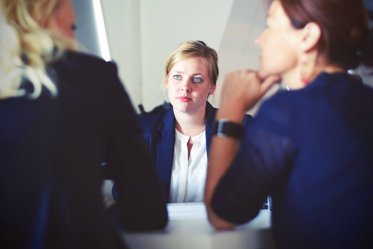 Woman on an job interview - These are the best Florida cities for job seekers.
