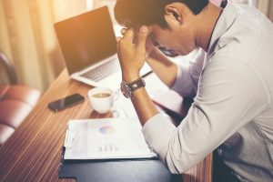 stressed man - Find your own way how to avoid stress when moving