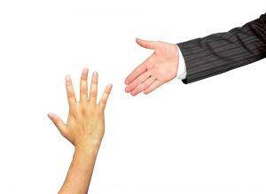 A hand reaching hand