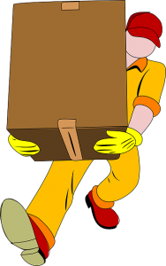 a mover carrying a box