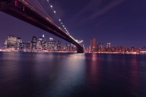 A view of NYC at night