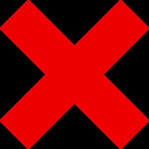 an x sign