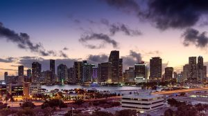 A view of Miami which makes people consider this city when moving to Florida.