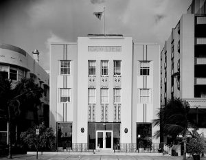 Art-deco building in Miami.