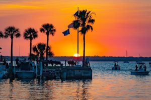 A sunset at one of the numerous beaches in Florida.