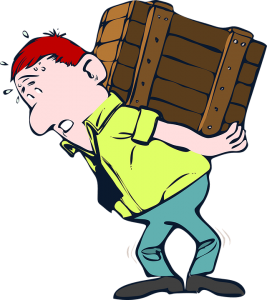 A man lifting a heavy box. This is the main difference between a DIY move vs hiring professional movers.