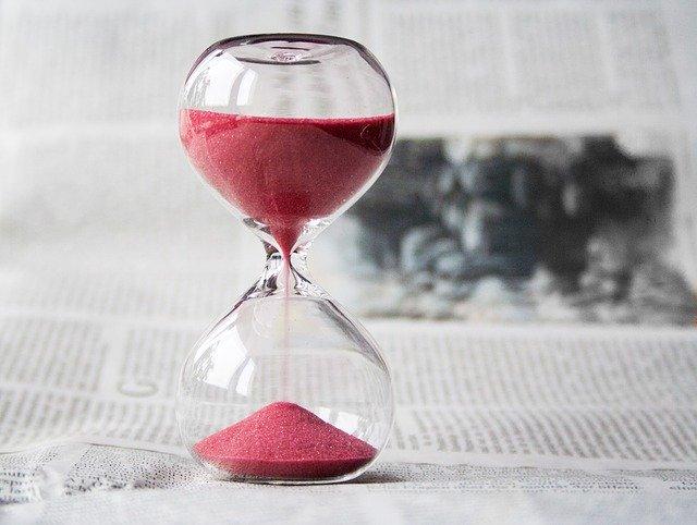 An hourglass.