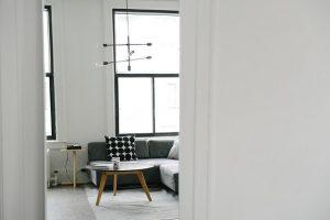 Open doors of a nice apartment.