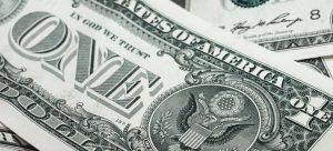A one dollar bill.
