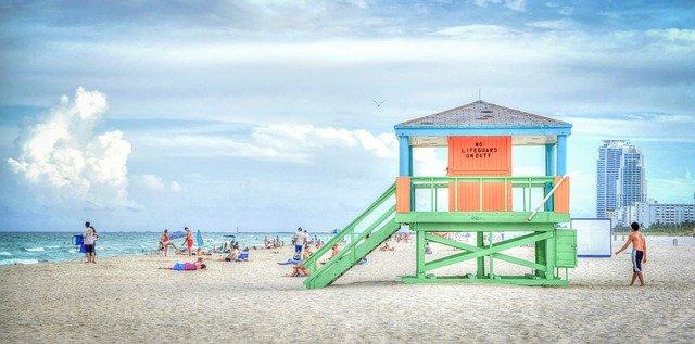 A beach in FL.