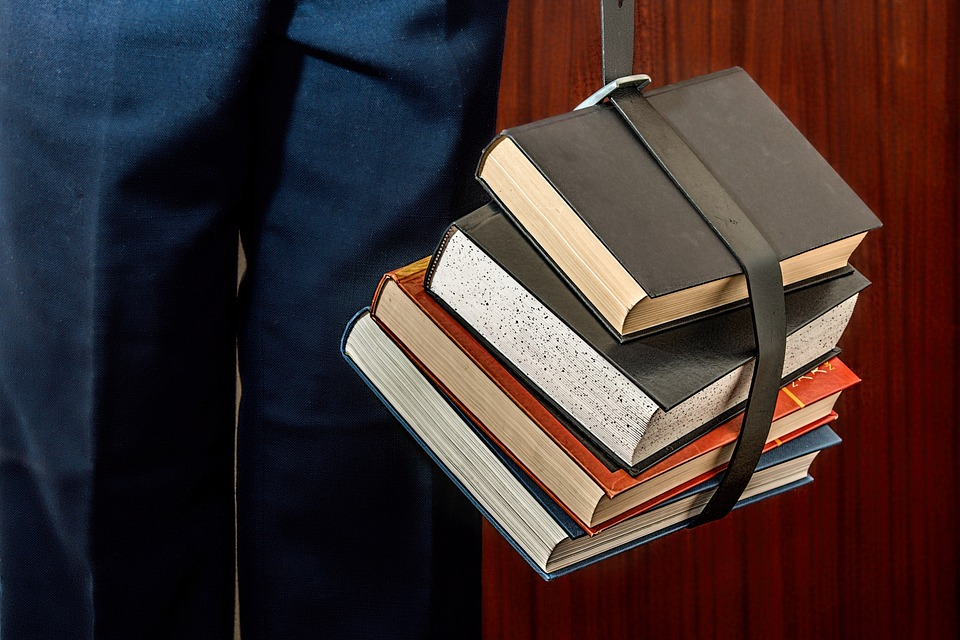 A student with his books