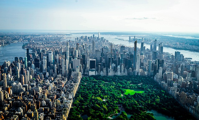 A new York City skyline.