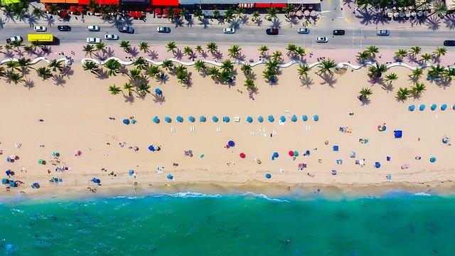 A beach in Florida.