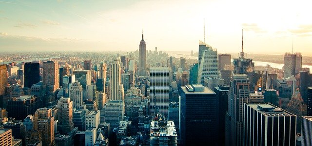 Manhattan, a hub of modern world architecture.