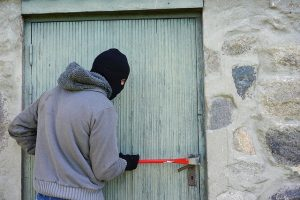 Thief Burglary Break In - Home security tips