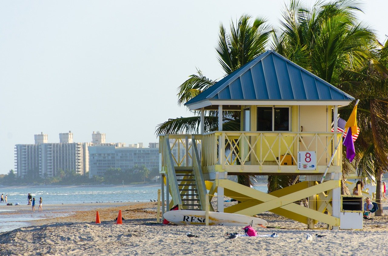 The beach in Miami you can enjoy after moving from West Palm Beach to Miami with kids.