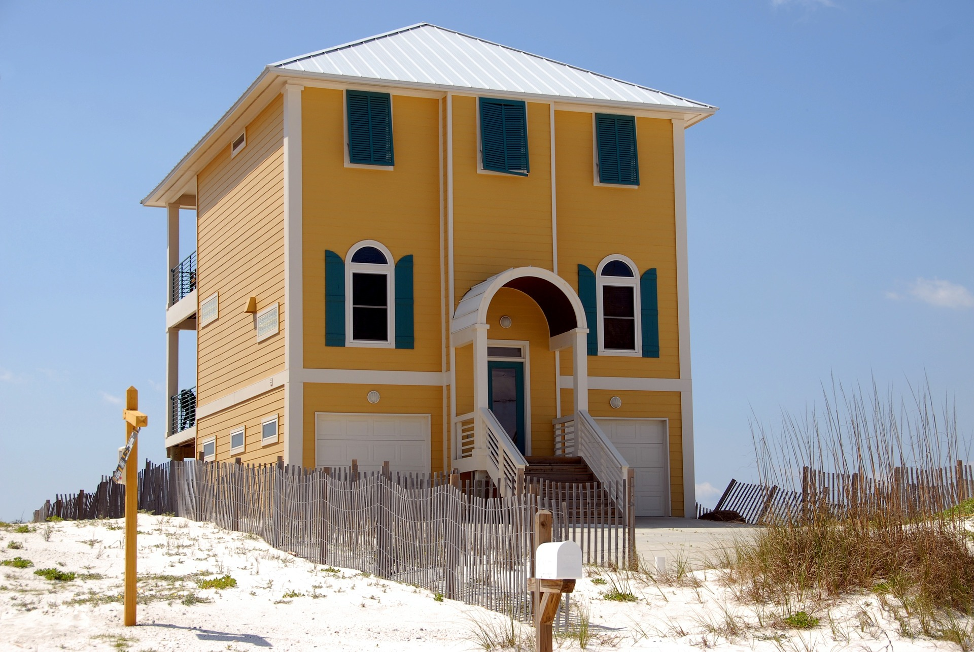 A beach house one might consider when buying a house in Florida as a foreigner