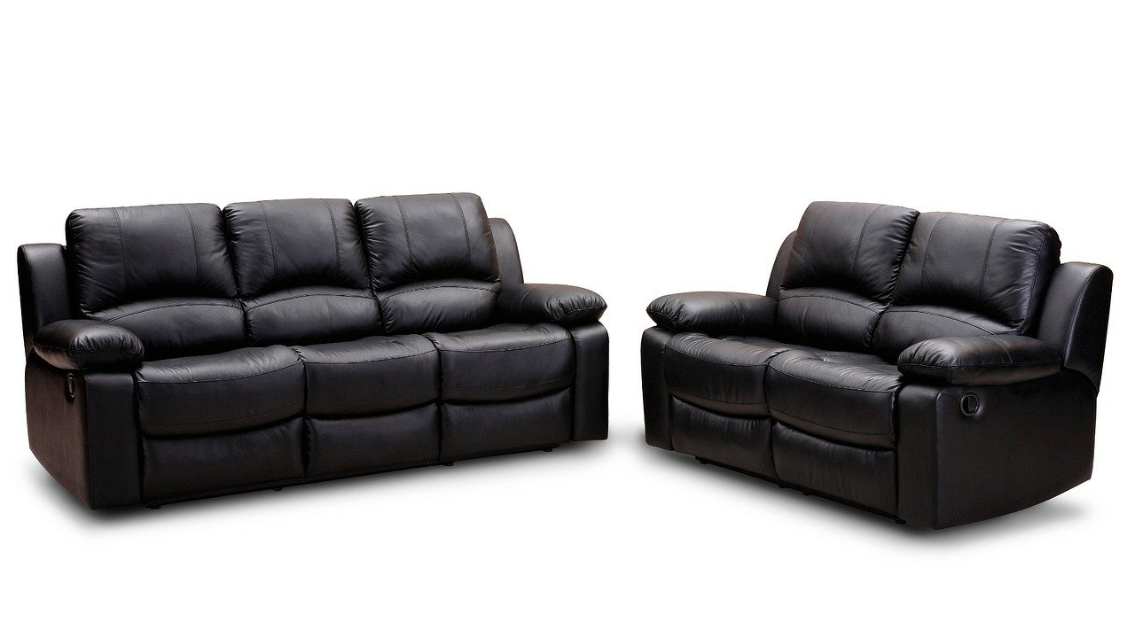 Two leather sofas.