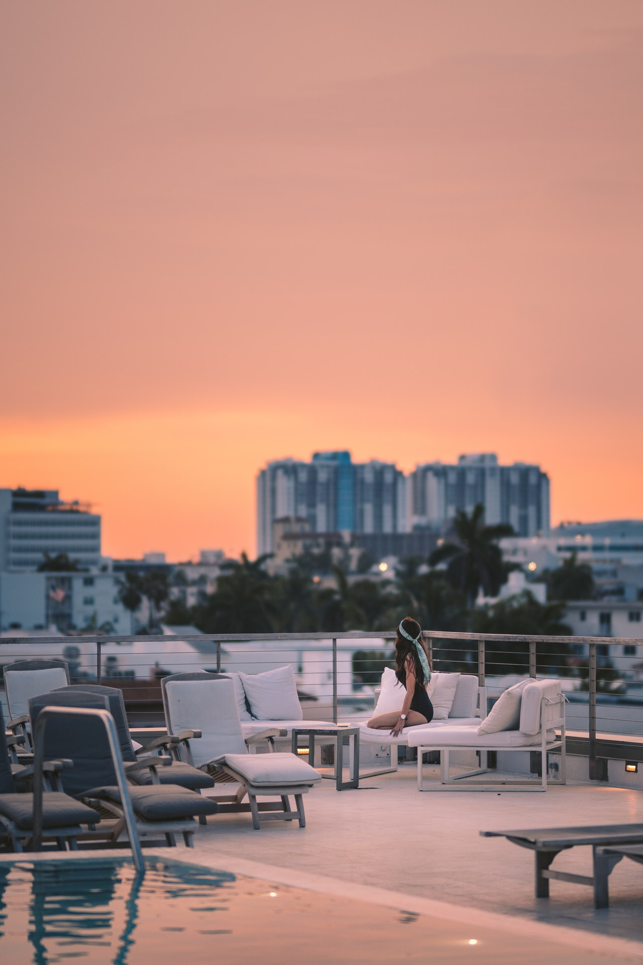 a sunset view of miami