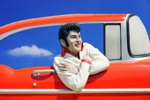 Elvis Presley figure.