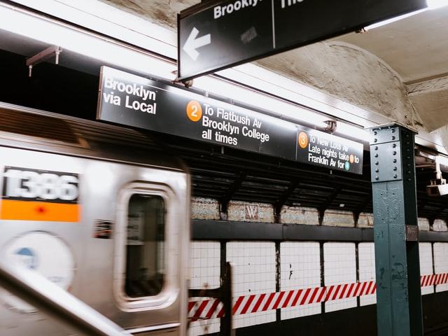NYC subway train.