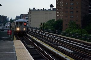 Train subway in Harlem, one of the nicest NYC neighborhoods for newcomers