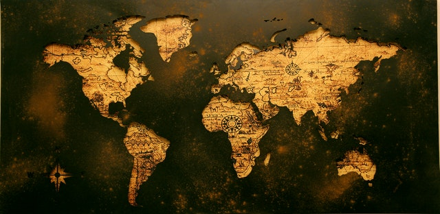 An image of the world map, read about list of items movers will not move overseas